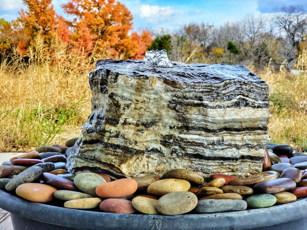 Onyx Boulder w/ Mini Colorado Premium Flat Hand-picked River Rock - Water  Feature - Absolute Natural Stones, Inc. - Home