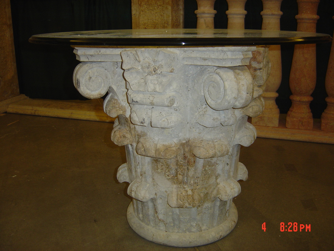 Hand Carved Stone Table